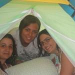 noi tre nella tenda!